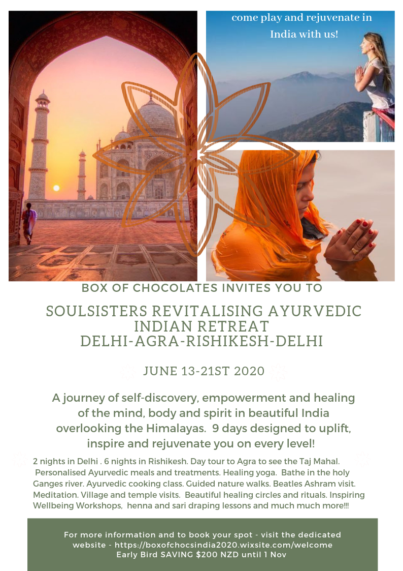 Cancelled due to Corona Virus - Soulsisters Revitalising Ayurvedic Indian Retreat 2020