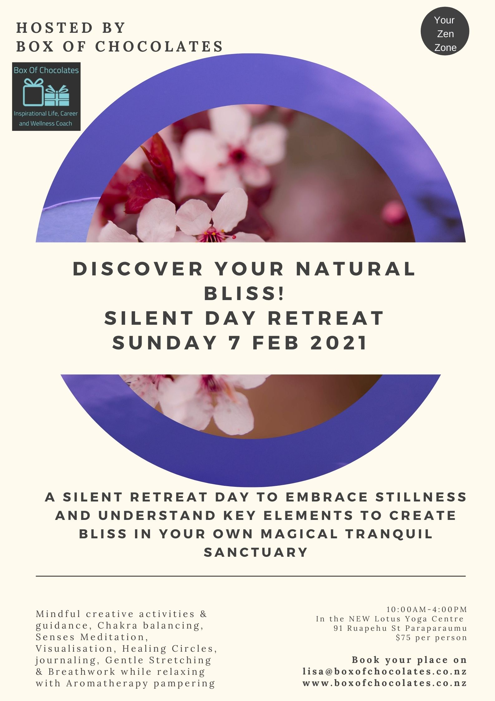 Discover Your Natural Bliss - Silent Day Retreat Feb 2021