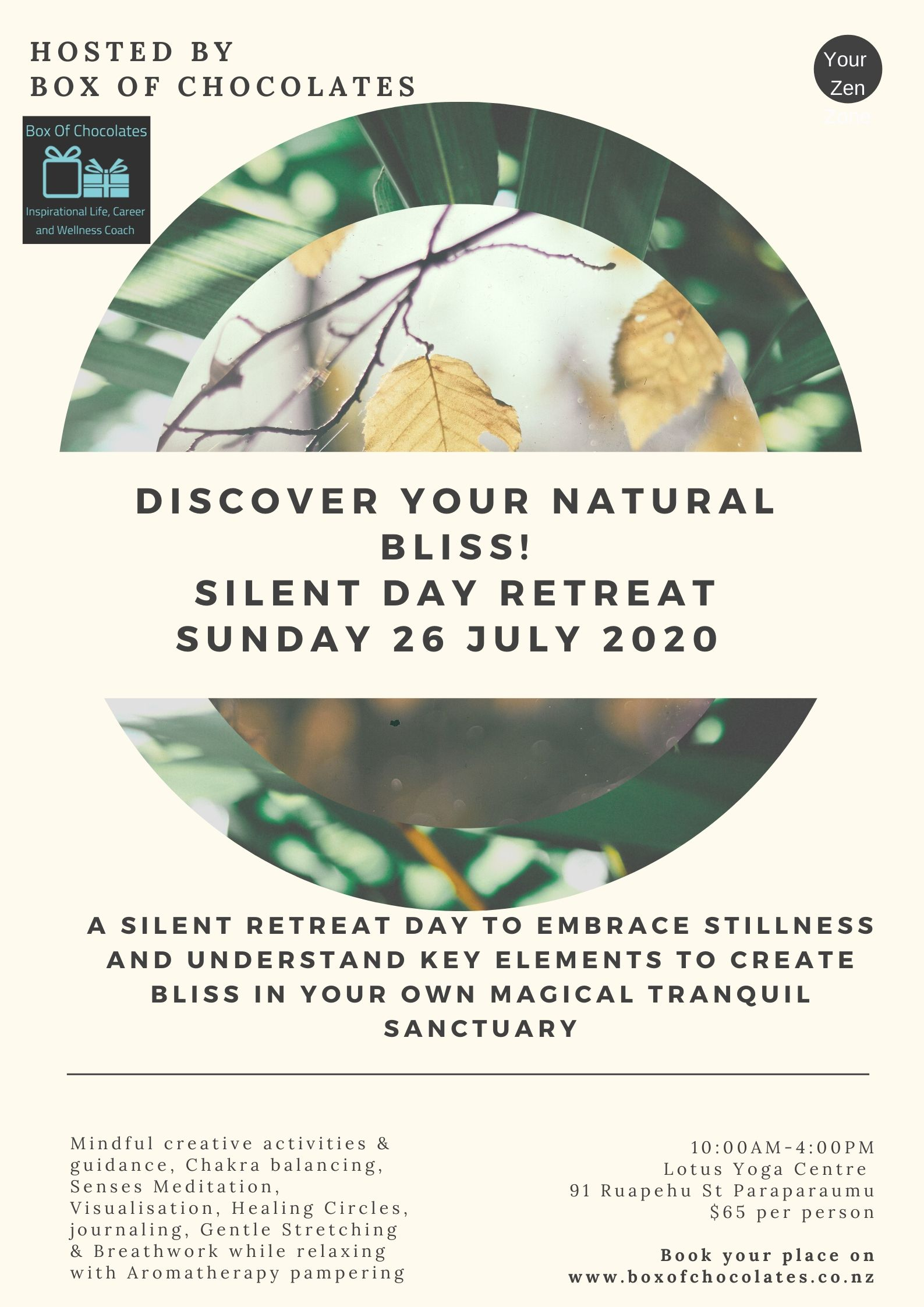 Discover Your Natural Bliss - Silent Day Retreat July 2020